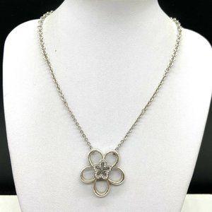 Brighton Infinity Flower Pendant Crystal Necklace